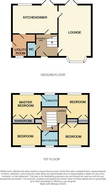 Floorplans For 20 Rose Tree Close, Moulton, NORTHAMPTON