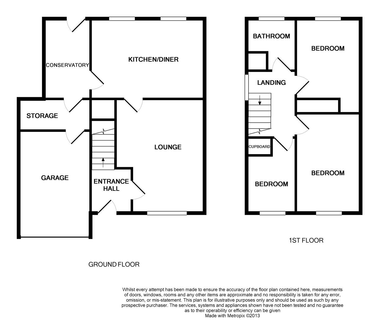 Floorplans For Froxhill Crescent, Brixworth