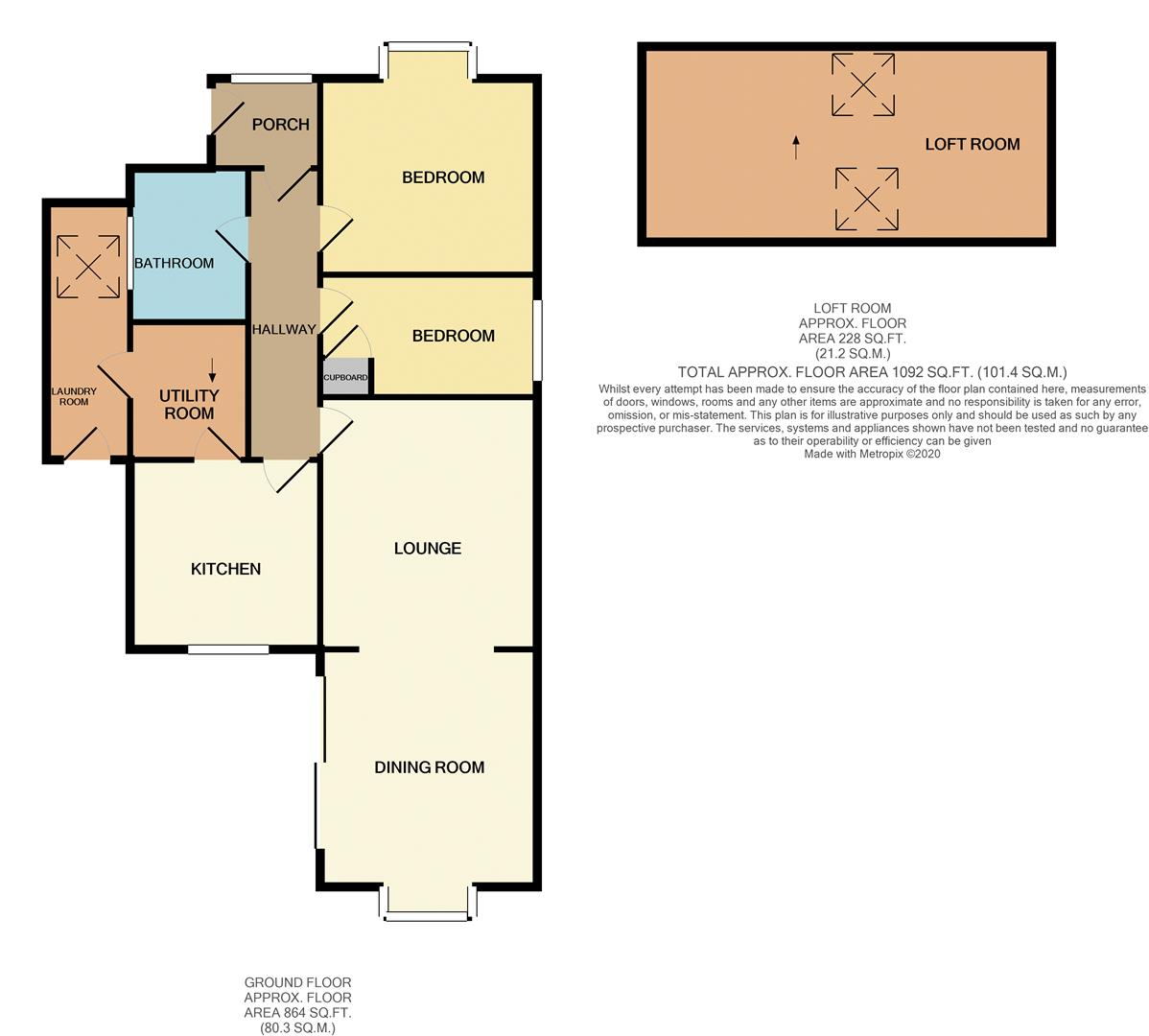 Floorplans For Park Close, Earls Barton