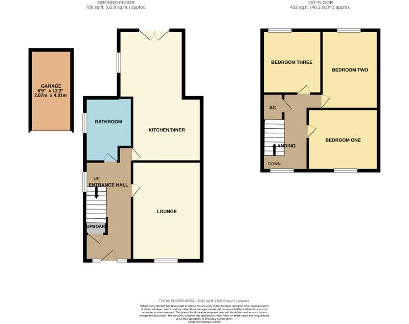 Floorplans For 12 Streeton Way, Earls Barton, NORTHAMPTON