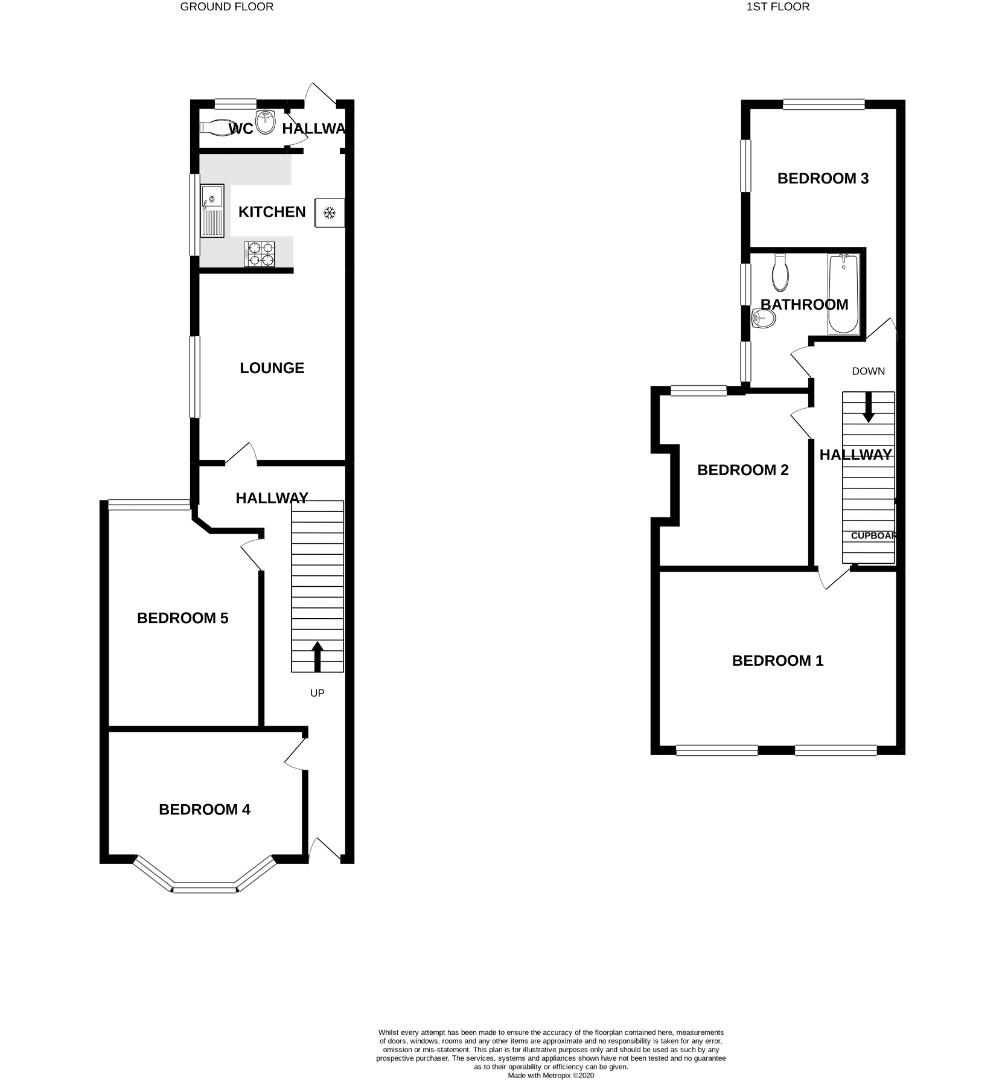 Floorplans For Stimpson Avenue, Northampton