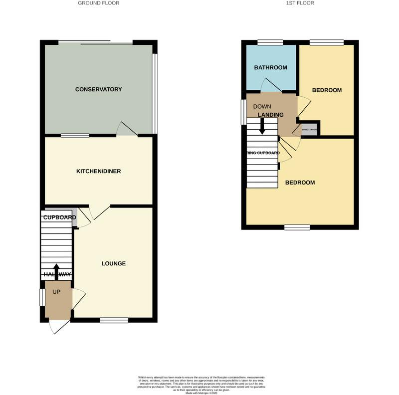 Floorplans For Compton Way, Earls Barton, Northampton
