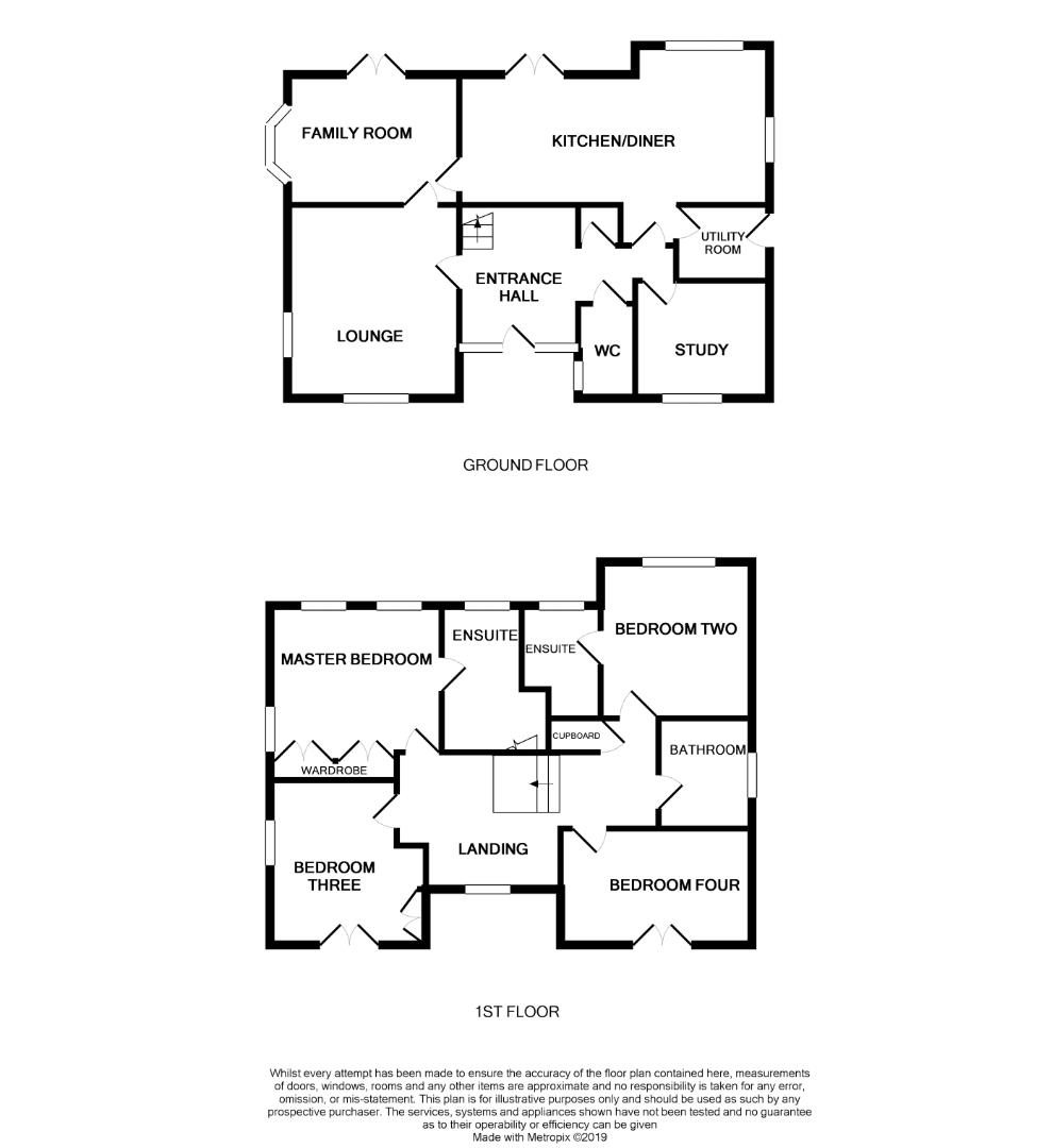 Floorplans For Spinney Close, Moulton