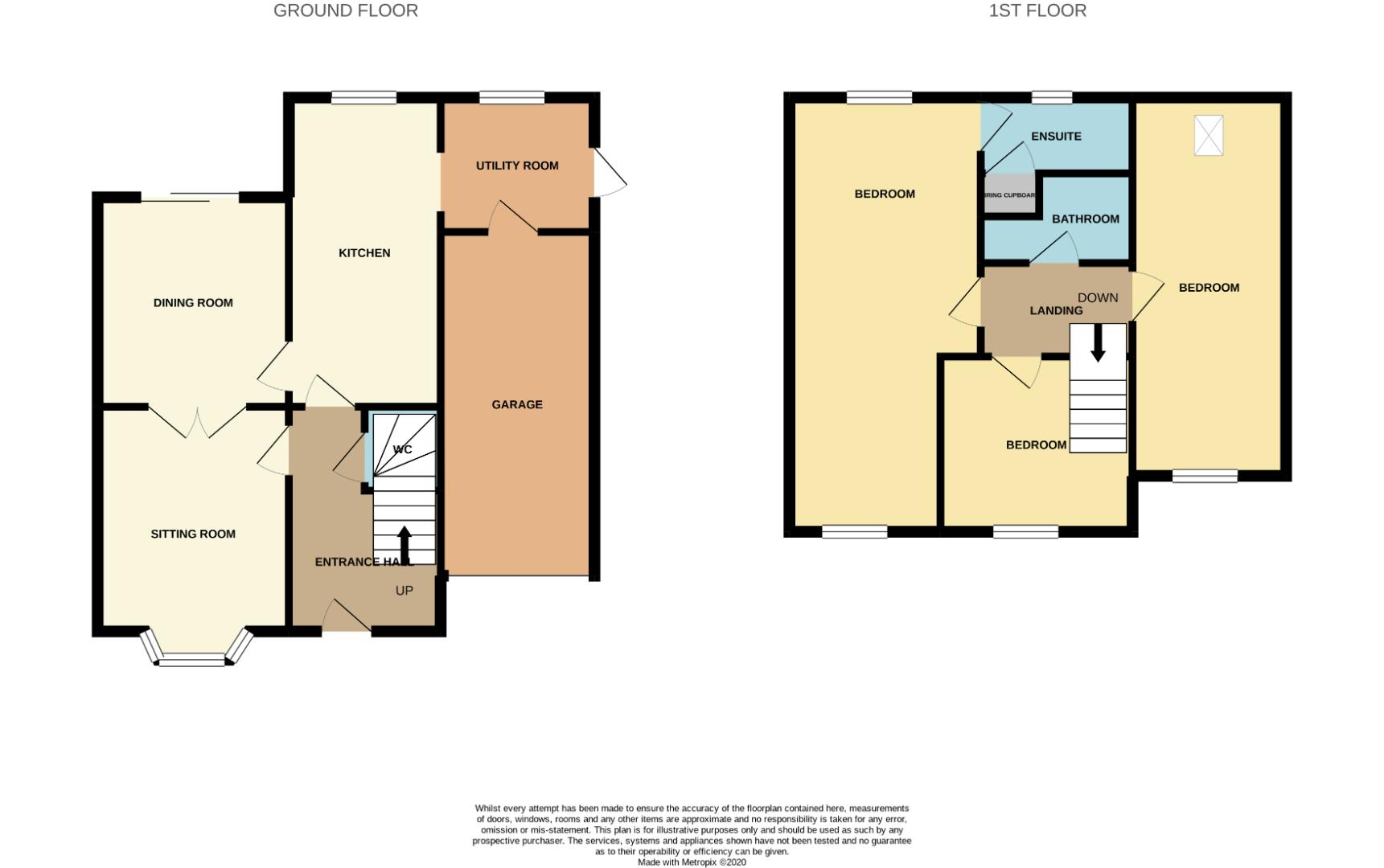 Floorplans For Maida Close, Wootton, Northampton