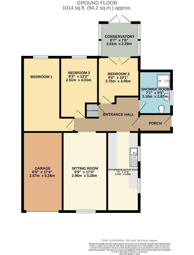 Floorplans For Westcott Way, Abington Vale, Northampton
