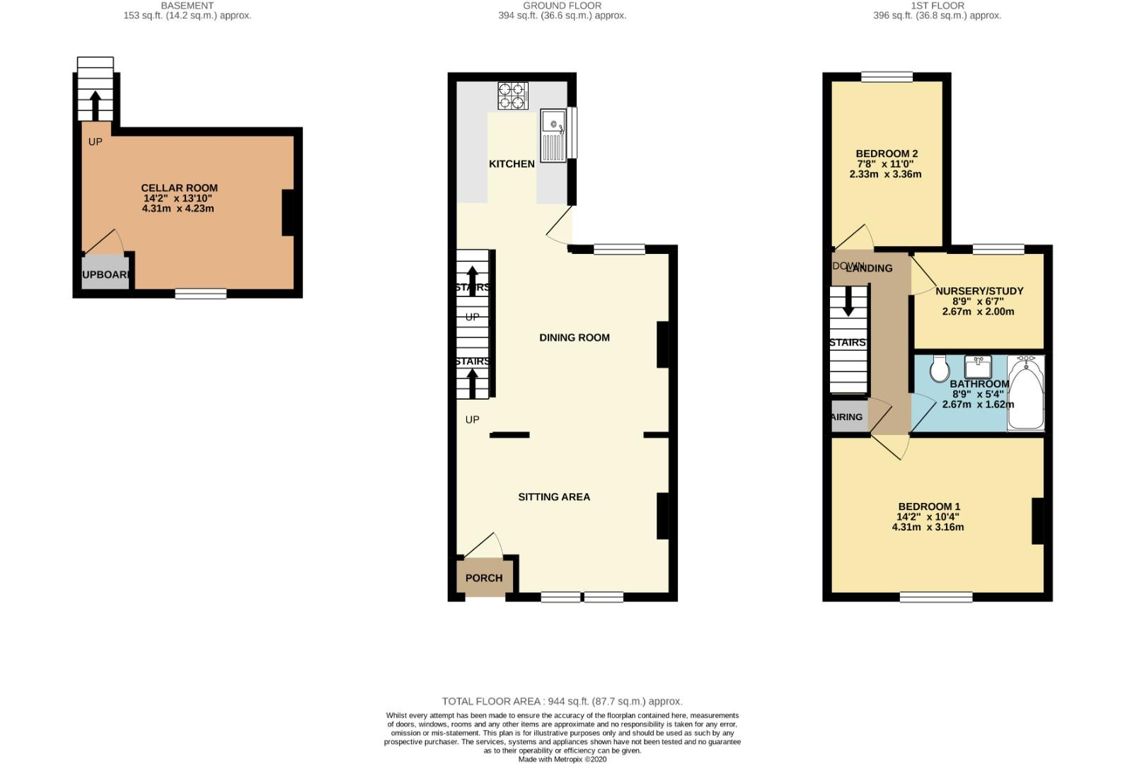 Floorplans For Stanhope Road, Queens Park, Northampton