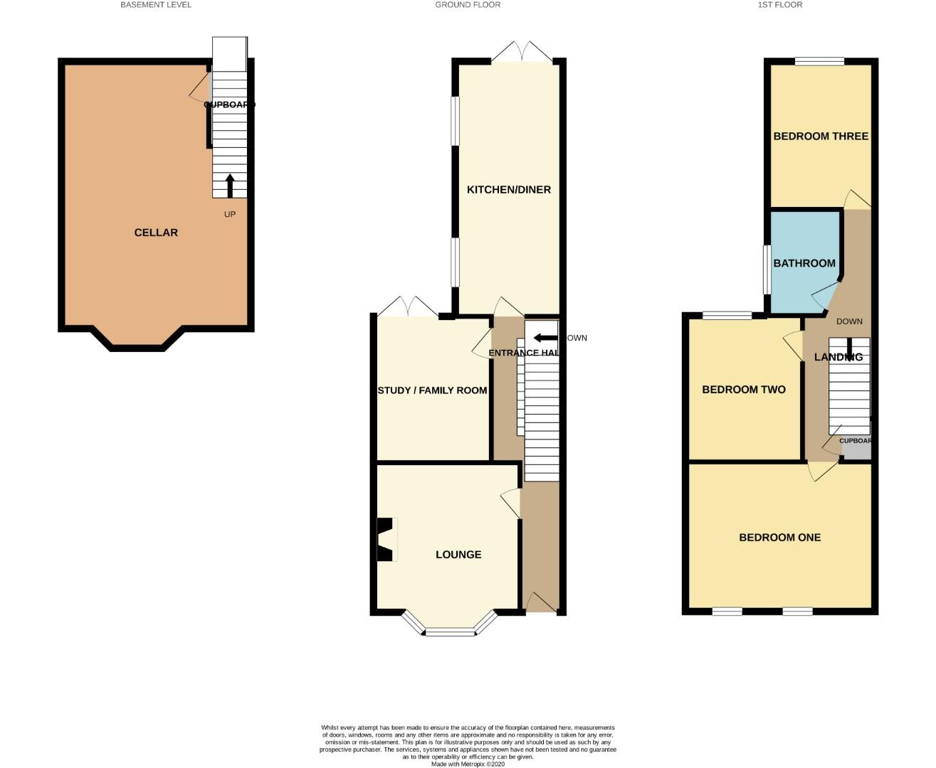 Floorplans For 34 Lutterworth Road, Abington