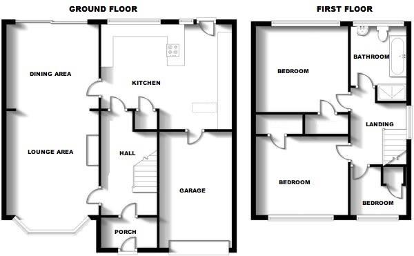 Floorplans For Cymbeline Way, Rugby