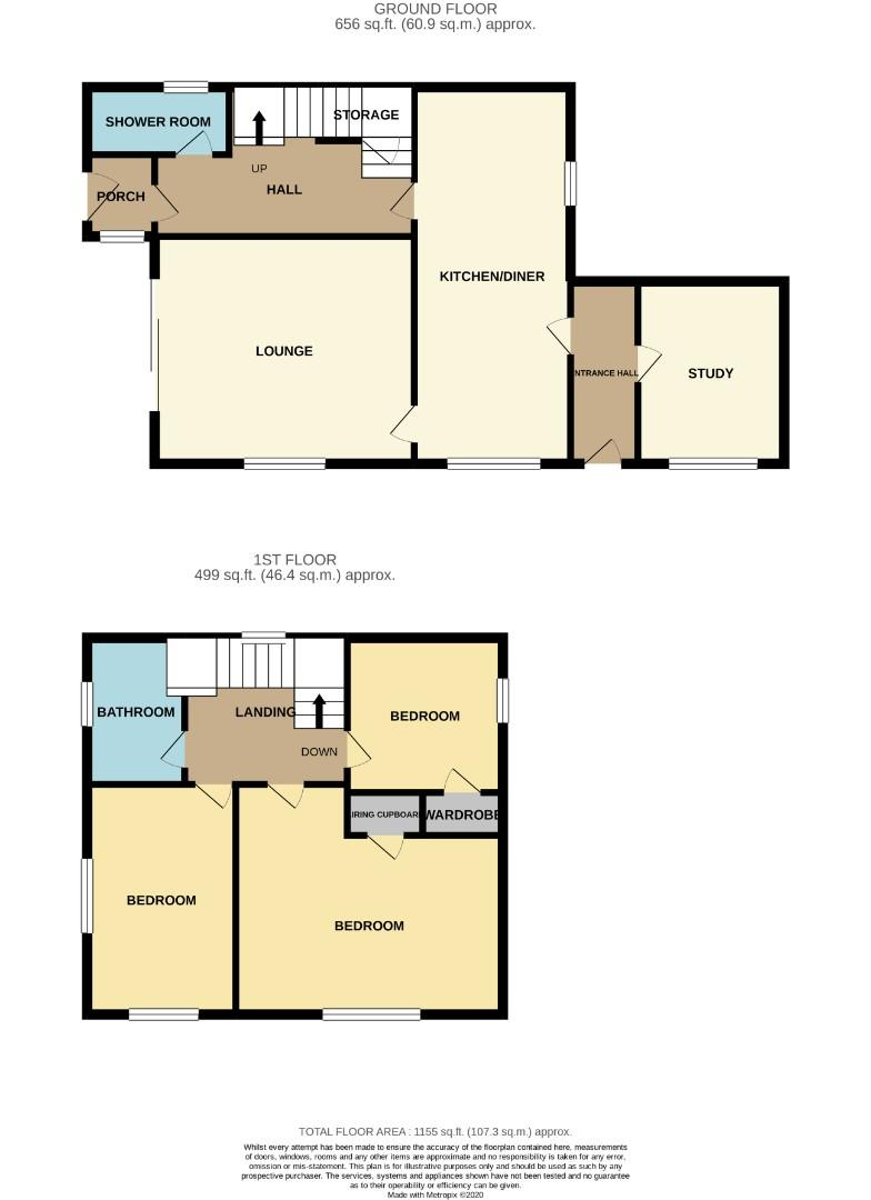 Floorplans For Manor Close, Roade