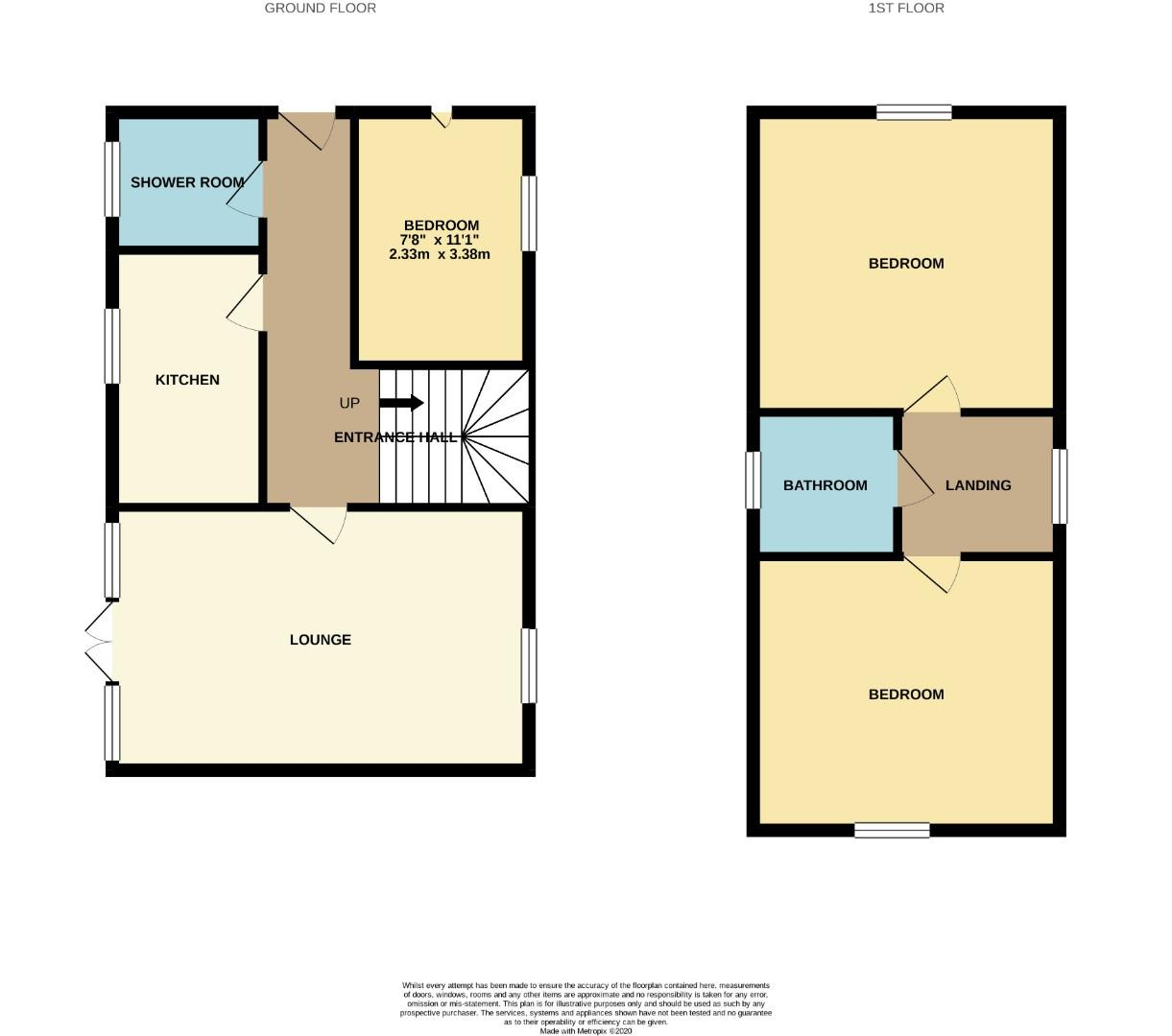 Floorplans For Tann Road, Finedon, Wellingborough