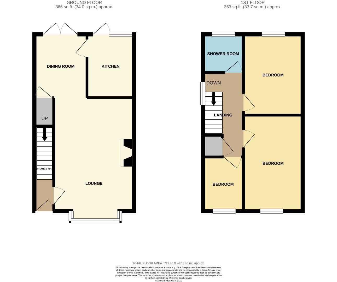 Floorplans For Claregate, Northampton