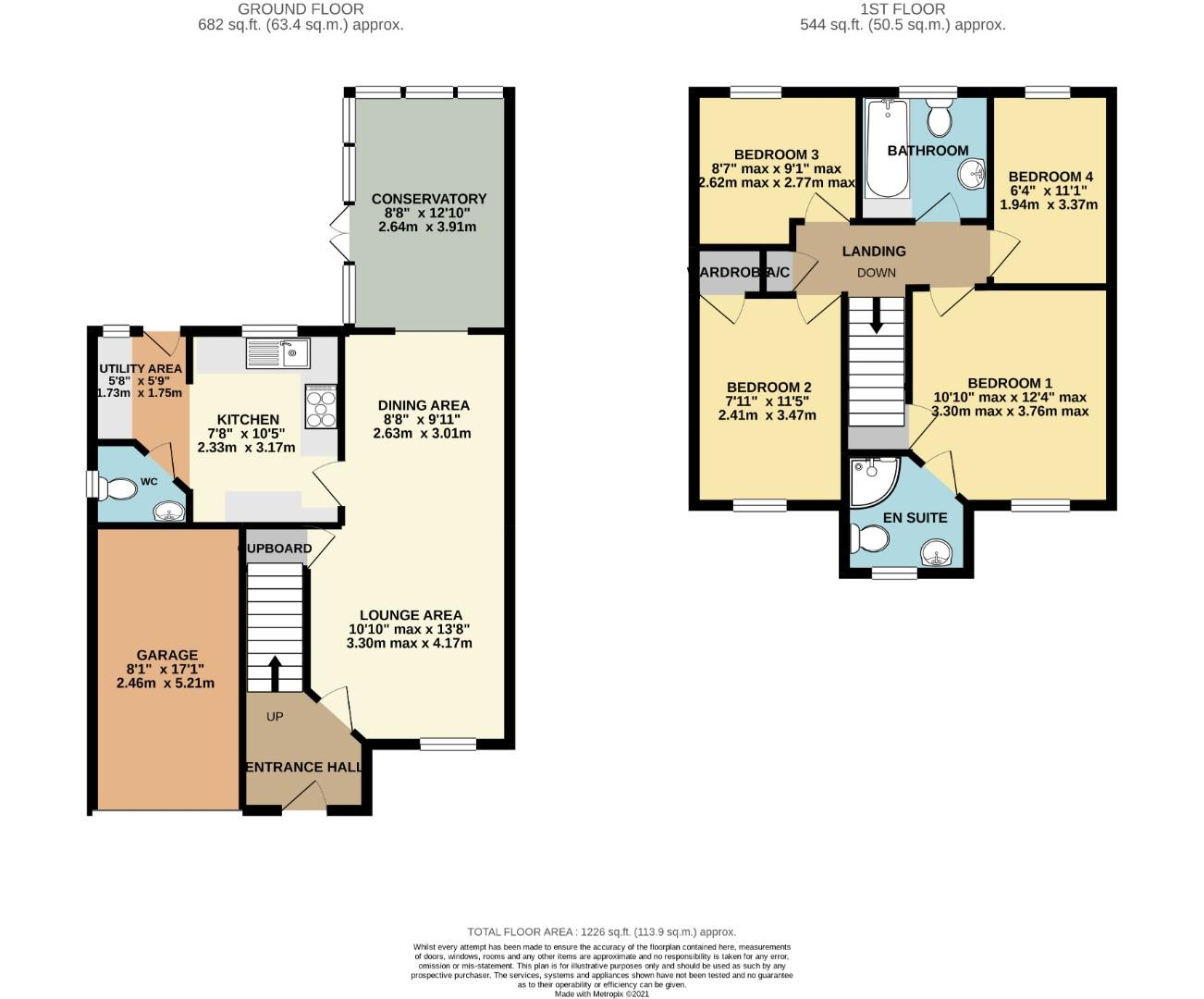 Floorplans For Auckland Close, Northampton