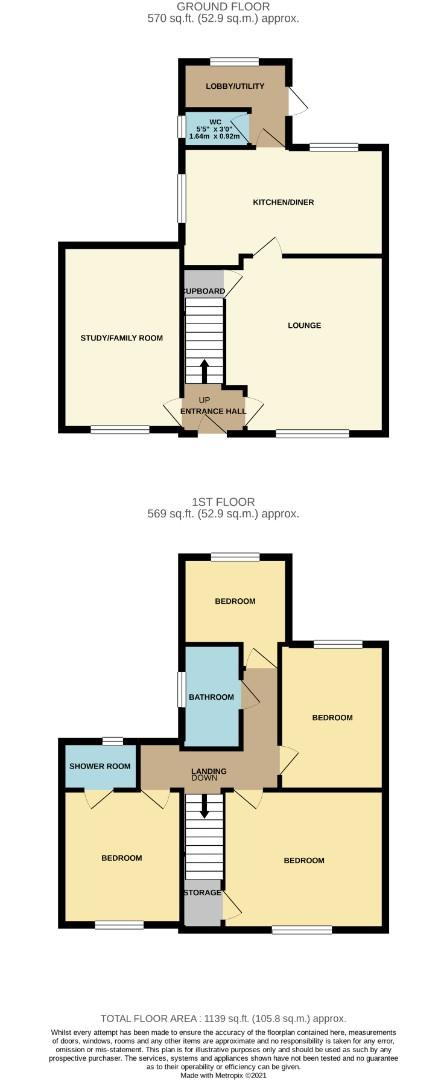 Floorplans For Grafton Road, Roade, Northampton