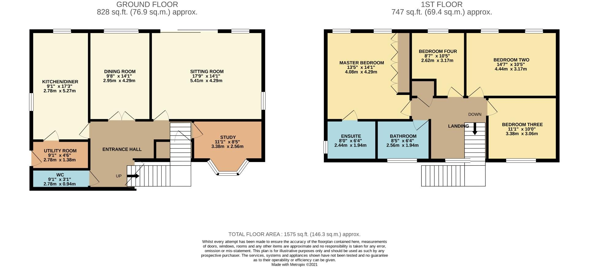 Floorplans For Hocknell Close, Wootton, NORTHAMPTON