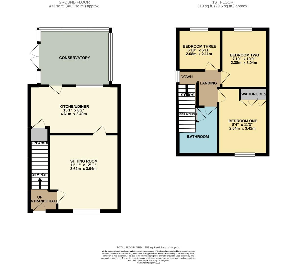 Floorplans For Cross Waters Close, Wootton, Northampton