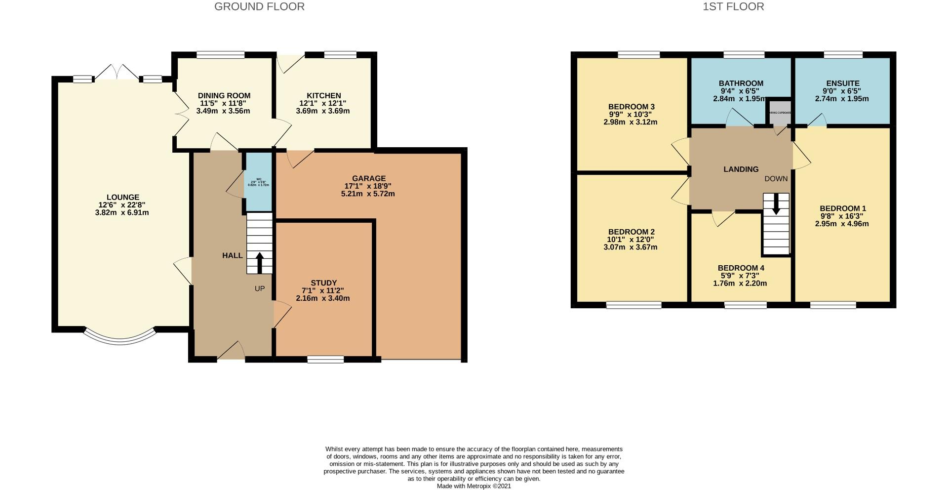 Floorplans For Shepperton Close, Great Billing, Northampton