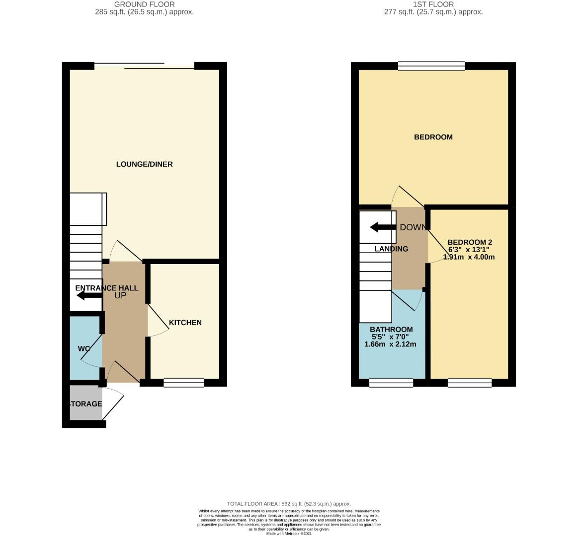 Floorplans For Woodpecker Way, Northampton