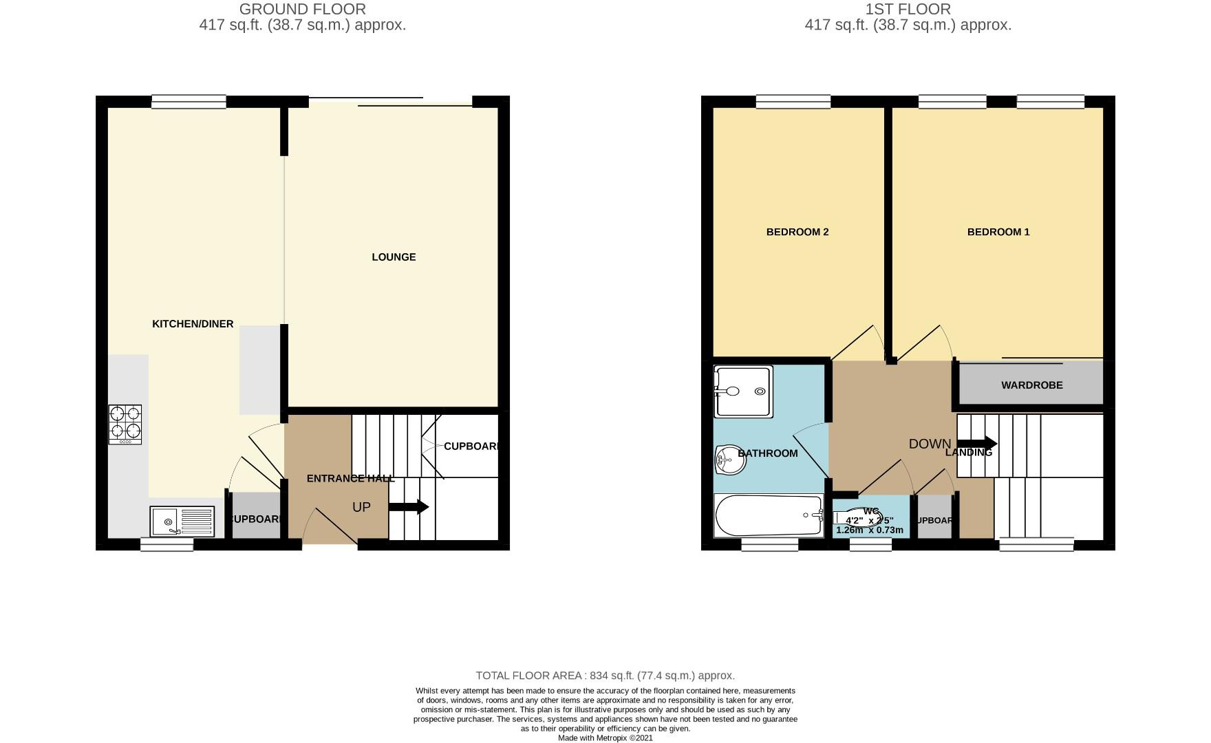 Floorplans For Done Cerce Close, Dunchurch