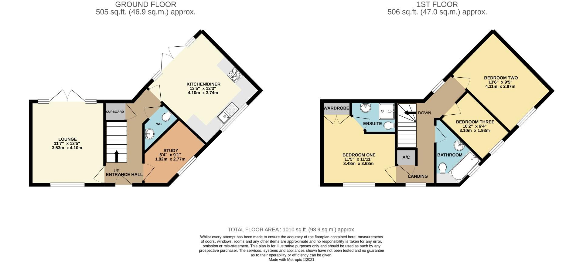 Floorplans For Brad Street, Moulton Park, Northampton